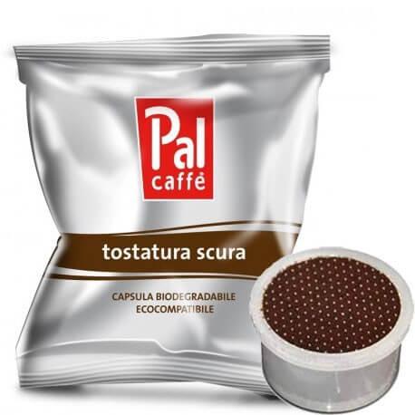100 Capsule Palombini PAL Caffè Tostatura Scura Compatibili su Macchine Lavazza Espresso Point