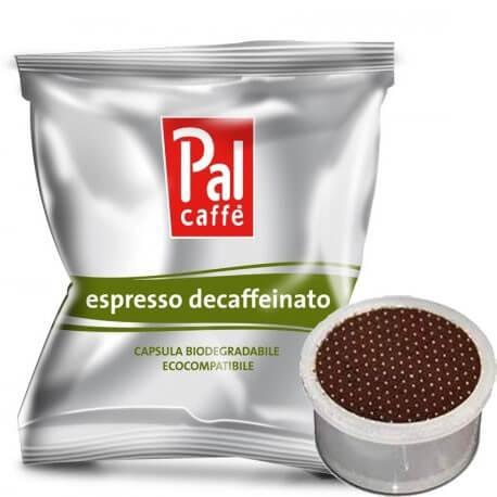 50 Capsule Palombini PAL Caffè Decaffeinato Compatibili su Macchine Lavazza Espresso Point