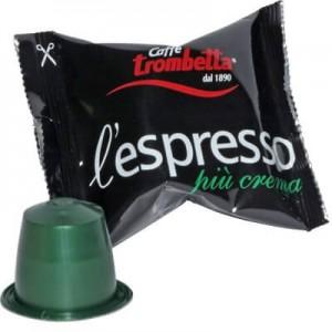 Caffè Compatibile Nespresso 100 Cialde Trombetta