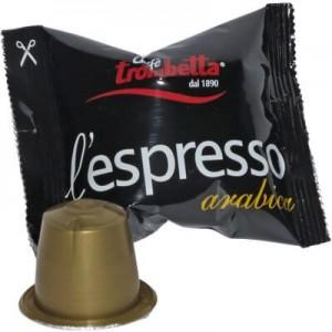 Cialde Compatibili Nespresso caffè Trombetta Arabica 100PZ