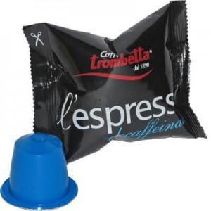 Decaffeinato Compatibile Nespresso Caffè Trombetta 50 Cialde