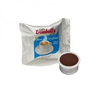 Cialde Decaffeinato Comatibile Lavazza Point Caffè Trombetta 50PZ