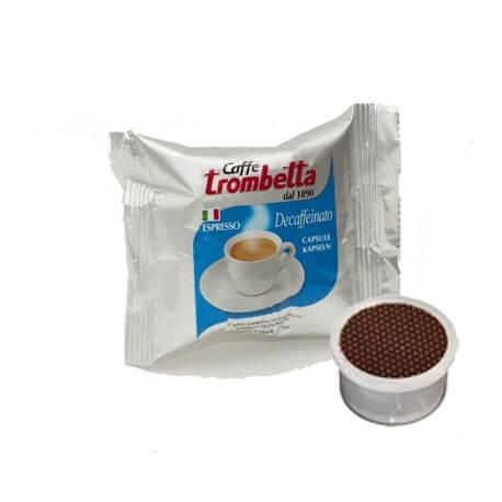 Cialde Decaffeinato Comatibile Lavazza Point Caffè Trombetta 50PZ