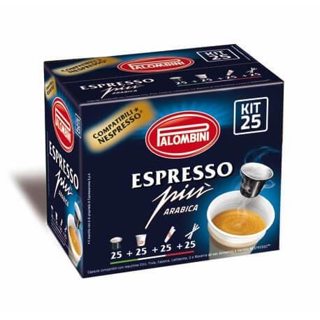 Cialde Caffè Compatibili Nespresso Palombini Espresso Più 100% Arabica 10PZ
