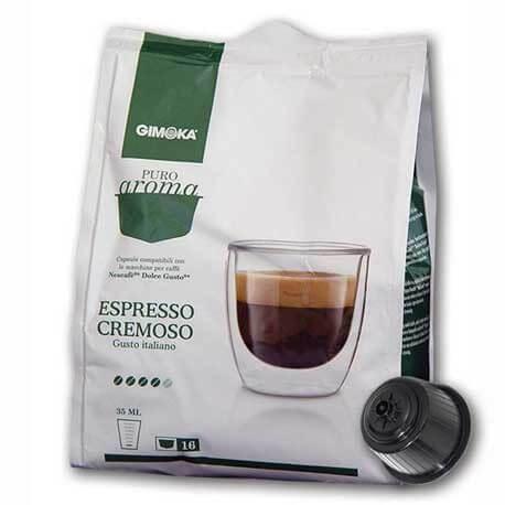Compatibili Nescafè Dolce Gusto Gimoka Puro Aroma Espresso Cremoso 16 Cialde.
