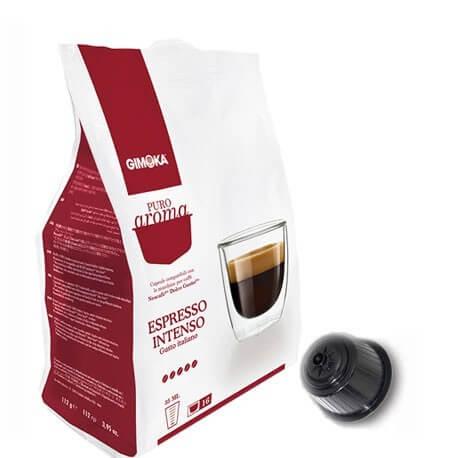 Gimoka Espresso intenso Compatibile su macchine Nescafè Dolce gusto 16 Capsule.