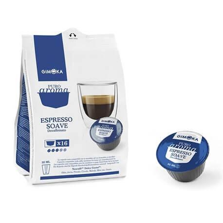 Caffè decaffeinato Gimoka compatibile Nescafè Dolce Gusto 16 Capsule.