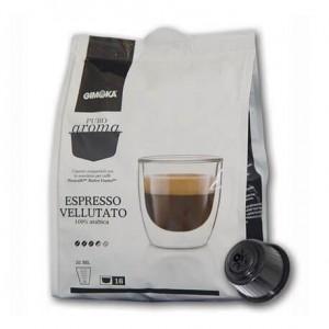 16 Capsule Nescafè Dolce Giusto Compatibili caffè Gimoka Vellutato.