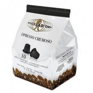 Miscela d'Oro Cremoso compatibili Nespresso 10 capsule
