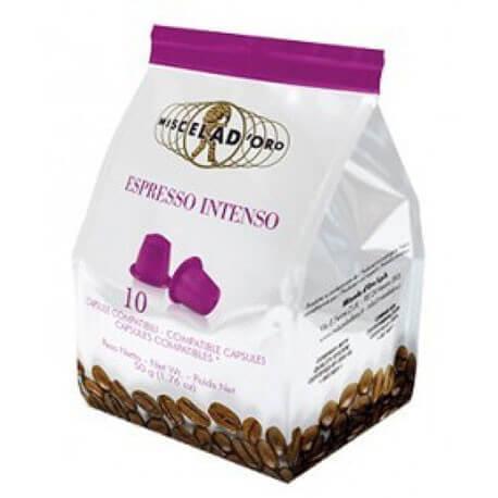 10 Capsule Miscela d'oro Intenso compatibile Nespresso