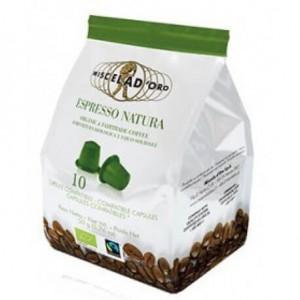 Espresso Natura Miscela d'Oro 10 Capsule compatibili Nesspresso