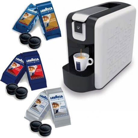 Lavazza Macchine Caffè Comodato d'uso Casa con 300 Cialde Aroma e Gusto + Kit Degustazione Misto.