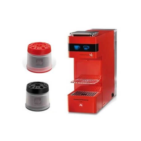 Macchina da Caffè Illy Iperespresso Y3 Rossa + 14 Capsule