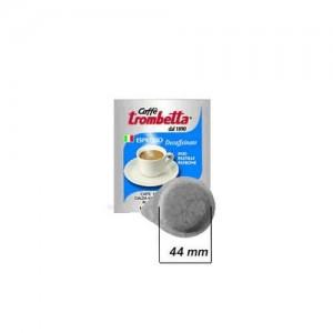 50 Cialde in filtro carta caffè Trombetta decaffeinato